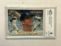 MICKEY MANTLE 1996 Topps Gallery Masterpiece SP INSERT! BCCG MINT 9! YANKEES!
