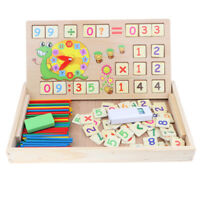 Wooden Mathematical Counting Rods with Box Kids Montessori Educational Toys