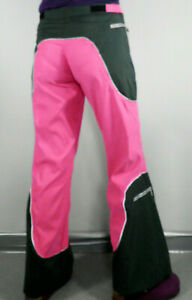 Vintage Rave Dark Green & Hot Pink Flared Trousers  Size S  Cosplay Psy Rave