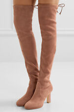 Stuart Weitzman Ledyland Over-The-Knee Suede Boots Size 7 Medium New In Box