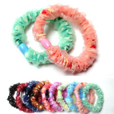 10 Girl Elastic Hair Ties Band Rope Ponytail Holder Hair Accessory New Rubber _S