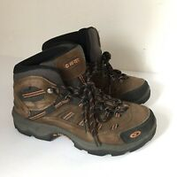 Hi-Tec Bandera Mid Brown Suede Lace Up Waterproof Hiking Boot Shoes Mens Size 8