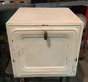 Primitive Antique Metal / TIn  BREAD BOX / PIE SAFE