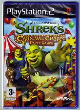 PS2 SHREK's Carnival Craze Party Games (2008), Sony Nuovo di Zecca & Sigillato in Fabbrica