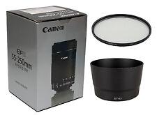 OBIETTIVO Canon EF-S 55-250mm f/4-5.6 IS STM+ filtro UV + ET 63 SCATOLA BIANCA