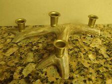 """13"""" Real Deer Antler Candle Holder 4 Hole Real Antler Centerpiece"""