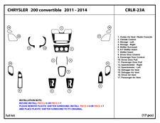 Dash Trim Kit for Chrysler 200 convertible 2011-2014 Interior Overlay CRLR-23A