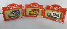 Coca Cola Die Cast Vintage Santa Delivery Trucks, England 1/64 Scale Lot of 3