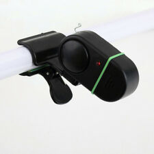 Black Fishing Alarm Electronic LED Fish Bite Sound Alarm Bell Clip On FishingRod