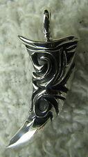 Sterling Silver Pendant Celtic Knot Dagger Sword