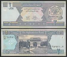 AFGHANISTAN 2 Afghanis BANKNOTE UNCIRCULATED