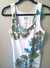 NEW!  Life Is Good Ladies Flowered Razorback Tank Medium