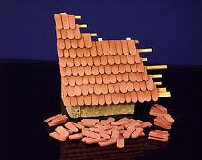 400 Keramik Biberschwanz Dachziegel, ziegelrot 1:32