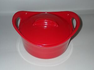 Rachel Ray 2.75 Covered Casserole Stoneware Baking Dish with Lid RED