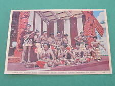 New Zealand Canoe for Action Song Maori Cultural Group Postcard