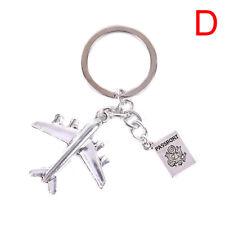 Earth Airplane Pendant Keychains Travel Alloy Keyring Diy Handmade Jewelry Gi BD