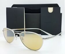 NEW Oliver Peoples AERO NYC Sunglasses OV1245ST 50360F 54 Silver Mustard Aviator