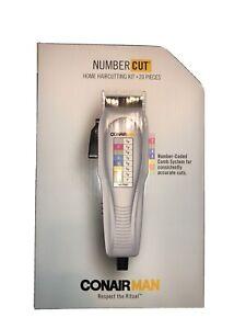 CONAIR MAN Home Haircutting Kit Number Cut Comb System 20 Pcs Hair Cut Wahl Pro