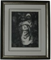 """Madre Nina"" by David Alfaro Siqueiros Lithograph on Paper Signed and Framed"
