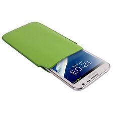 Etui mit Ausziehhilfe für Samsung N7100 Galaxy Note 2 in grün Tasche Hülle Case