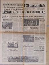 L'Humanité - (16 juil 1946) Grandiose défilé du peuple-Mikhailovitch-Lagardelle