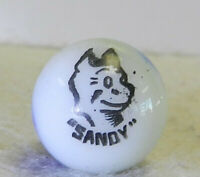 #10896m Vintage Peltier Sandy Comic Picture Marble .66 Inches *Mint*