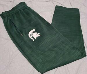 Nike Elite Michigan State University Spartans Warm-Up Pants Dri Fit Men's XL