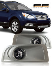 For 2010 2011 2012 Subaru Legacy Outback Fog Lights Clear Lamps Complete Kit