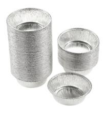 Aluminum Foil Pans - 100-Piece Round Disposable Baking Tin Pans for Pies and Tar