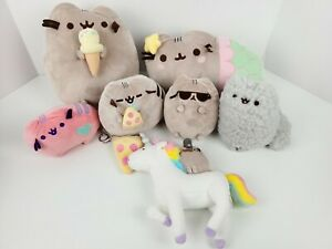 GUND Pusheen The Cat Lot Of 7 Plush Toys Stuffed Animals Pizza Ice Cream Unicorn
