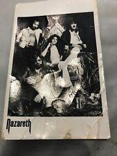 Nazareth Fully Signed Original Band Autograph Postcard UK 70's