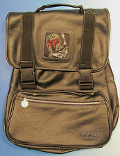 Star Wars Boba Fett Backpack Black Book Bag by Pyramid 1996 Galactic Empire