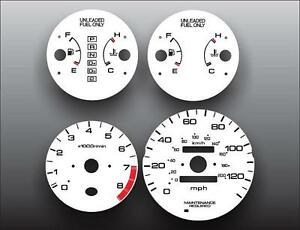 1996-2000 Honda Civic EX LX Dash Instrument Cluster White Face Gauges