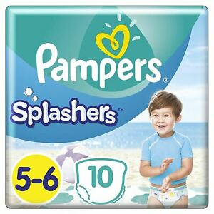 Pampers Splashers Swim Nappies Size 5 to 6 - Disposable Swimming Pants - 10 Pack