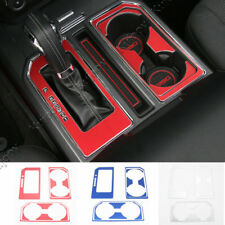 3 Color For Ford F150 2016+ Gear Shift Panel & Water Cup Holder Cover Trim Alloy