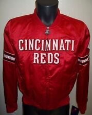 Woman's CINCINNATI REDS Satin Jacket by STARTER Original MLB MED LG XL 2X