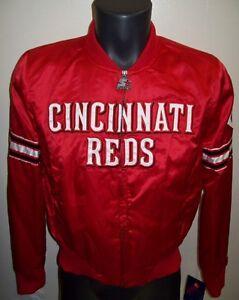 Woman's CINCINNATI REDS Satin Jacket by STARTER Original MLB MED LG XL 2X