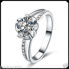 0.50CT Synthetic Diamond Solid Platinum PT950 Engagement Wedding Ring White Gold