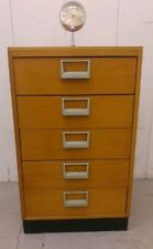 Vintage/Retro Solid Wood 5 Chests of Drawers