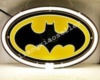 NEW BATMAN BAT MAN SUPER HERO 3D Real Neon Sign Beer Bar Pub LIGHT Free SHIP