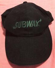 Subway Restaurant Black Employee Velcro Adjustable Hat