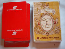Vintage UNITED AIRLINES PLAYING CARDS Standard size in original box
