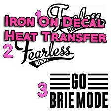Fearless Nikki Brie Mode Decal Iron On HTV Heat Transfer Halloween Costume Twins