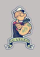 "3"" Go Vegan Vegetarian Humane Society PETA Animal Advocate Vinyl Cool Sticker"