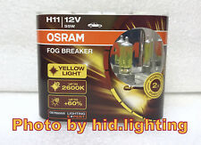 Genuine Osram Fog Breaker H11 2600K headlight bulb light lamp Yellow Global 55W
