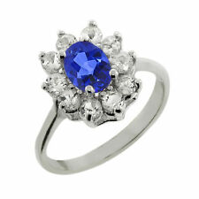Tanzanite Not Enhanced Sterling Silver Fine Rings