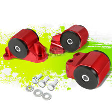 65A BUSHING CNC ENGINE MOTOR MOUNT KIT FOR 92-95 CIVIC/94-01 INTEGRA B/D RED