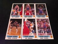 1990-91 Panini Stickers Detroit Pistons TEAM SET (6) Isiah Thomas Dennis Rodman