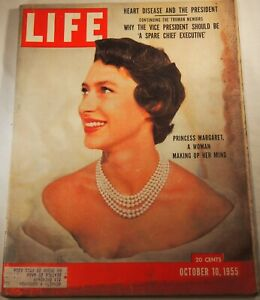 LIFE Magazine October 10, 1955 Princess Margaret Heart Disease Eisenhower