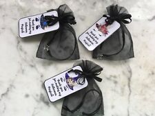 Unicorn Halloween 6 party favors silver star necklaces in organza bags